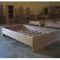 Indonesian Teak Furniture Simplicity Bed Queen Preview Version