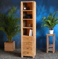 Indonesian Teak Furniture Bookcase 3 Drawers Preview Version
