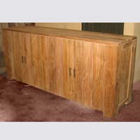 Indonesian Teak Furniture Shally Sideboard Rustic Preview Version