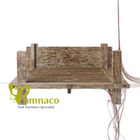 Yumna Pakkola Rustic Bed - Reclaimed Recycled Indonesian Teak Furniture