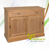 Gerard Sliding Door Sideboard - Reclaimed Indonesian Teak Furniture