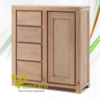 White Recycled Commode - Reclaimed Indonesian Teak Furniture