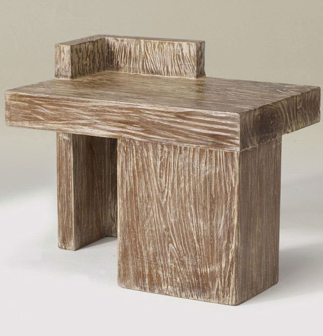 Indonesian Reclaimed Teak Furniture Rustic Style Bedside Table