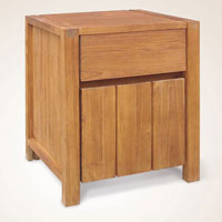 Union Bedside 1 Door - Reclaimed Indonesian Teak Furniture