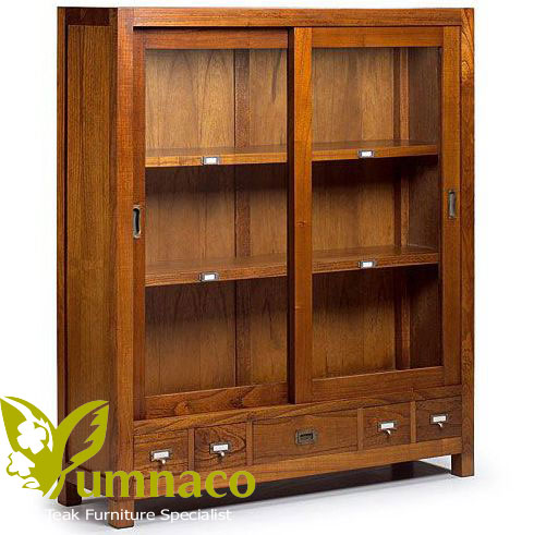 Indonesian Reclaimed Teak Furniture Display Cabinet