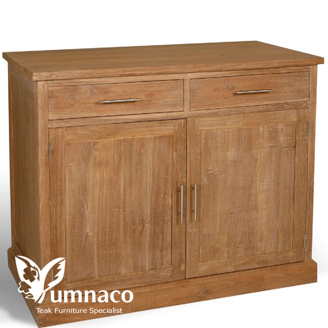 Indonesian Reclaimed Teak Furniture Peninsula Sideboard 90