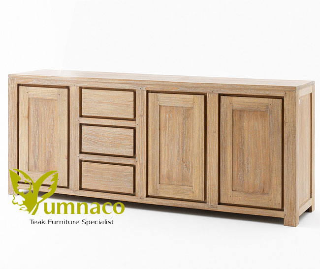Indonesian Reclaimed Teak Furniture White Recycled Sideboard