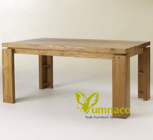 Indonesian Reclaimed Teak Furniture Sonoma Dining Table