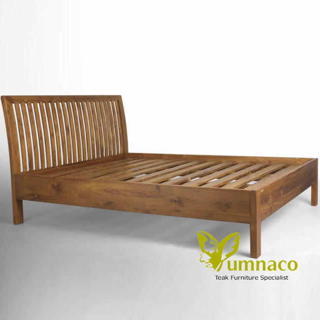 Teak Furniture Yumna Bars Headboard Bed