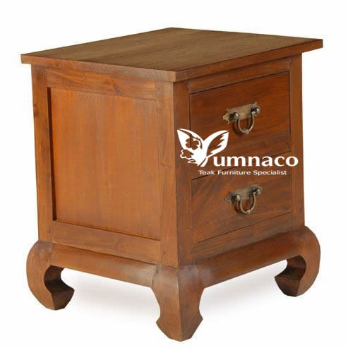 Indonesian Reclaimed Teak Furniture Bety Opium Bedside 2 Drawer