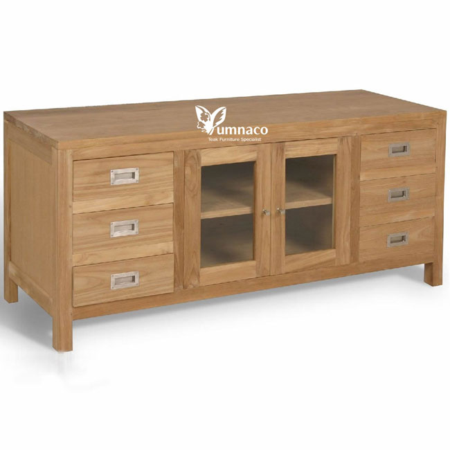 Teak Furnituree Yumna Sideboard 6 Drawers