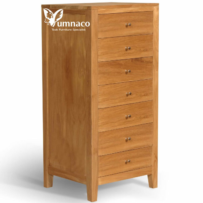 Teak Furniture Yumna Solid Teak Chest of 7D