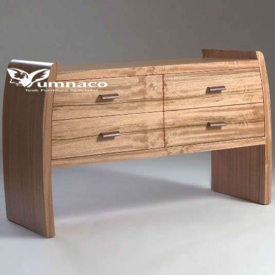 Teak Furniture  Yumna Wave Dresser Prototype