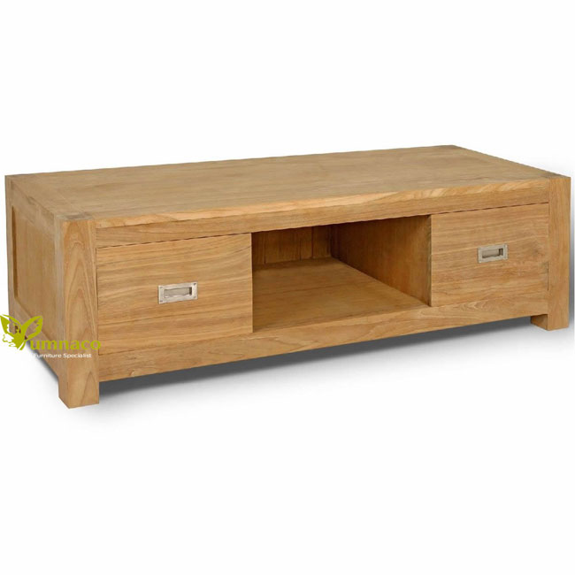Teak Furniture Yumna Bern TV Stand 2 Drawers