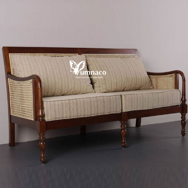 Teak Furniture Yumna Plantation Style Love Seat