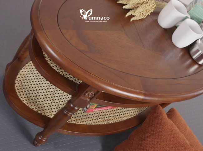 Teak Furniture Yumna Plantation Style Oval Center