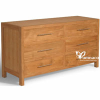 Yumna Teak Dresser 6 D - Indonesian Indoor Teak Furniture