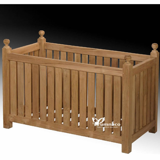 Teak Garden Furniture Yumna Teak Planter Double