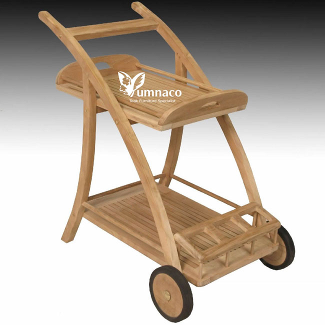 Teak Garden Furniture Yumna Teak Trolly 02