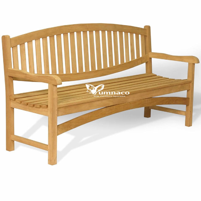 Teak Garden Furniture Yumna Oval Bench 03