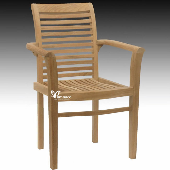 Teak Garden Furniture Yumna Ipel Stacking Chair