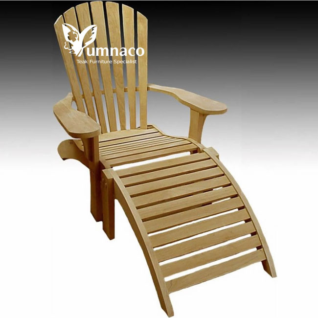 Teak Garden Furniture Adirondack Chair Footrest