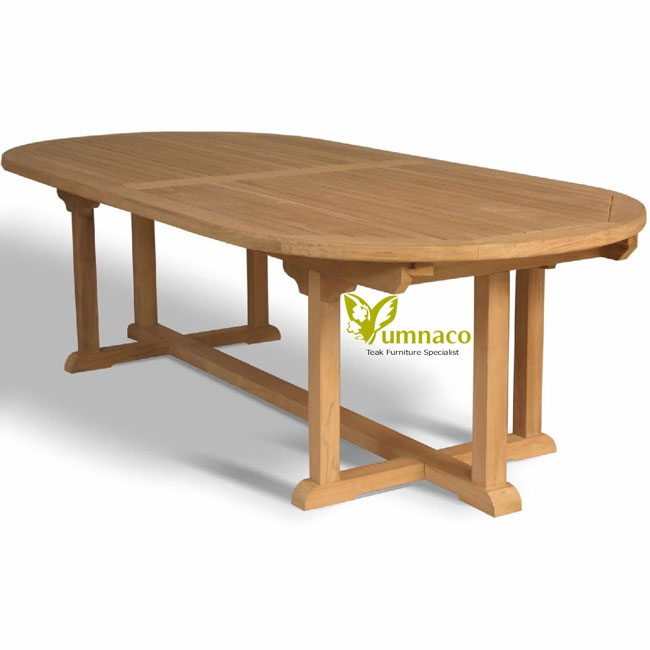 Teak Patio Furniture Yumna Garden Teak Oval Table