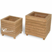 Yumna Teak Planter A - Indonesian Outdoor Teak Furniture