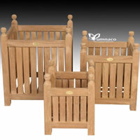 Yumna Teak Planter 03 - Indonesian Outdoor Teak Furniture