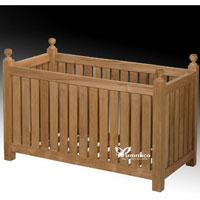 Yumna Teak Planter Double - Indonesian Outdoor Teak Furniture