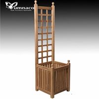 Yumna Teak Planter Wall - Indonesian Outdoor Teak Furniture