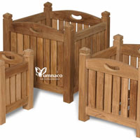 Yumna Teak Planter - Indonesian Outdoor Teak Furniture