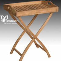 Yumna Teak Tray Stand - Indonesian Outdoor Teak Furniture