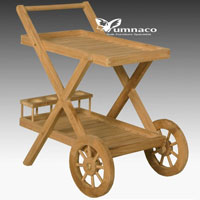 Yumna Teak Trolly - Indonesian Outdoor Teak Furniture