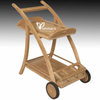 Yumna Teak Trolly 02 - Indonesian Outdoor Teak Furniture