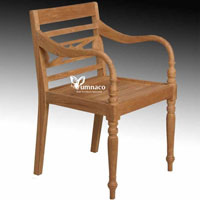 Antique Garden Armchair - Indonesian Outdoor Teak Furniture