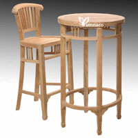 Batavia Barstool - Indonesian Teak Outdoor Garden Furniture