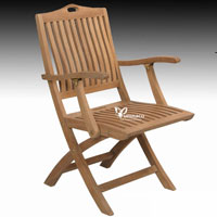 Bratislava Folding Armchair - Indonesian Outdoor Teak Furniture