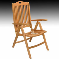 Bratislava Folding Seat - Indonesian Outdoor Teak Furniture