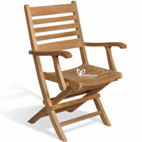 Folding Armchair Balkan - Indonesian Outdoor Teak Furniture