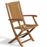 Folding Trnava Armchair - Indonesian Outdoor Teak Furniture