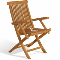 Folding Armchair Yumna - Indonesian Outdoor Teak Furniture