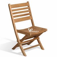 Yumna Folding Chair Balkan - Indonesian Outdoor Teak Garden Furniture