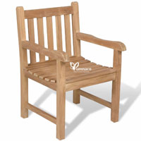 Yumna Garden Armchair - Indonesian Outdoor Teak Garden Furniture