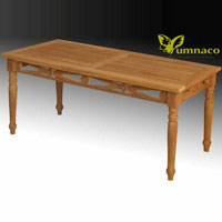 Yumna Antique Dining Table - Indonesian Outdoor Garden Teak Furniture