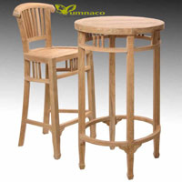 Yumna Batavia Bar Table - Indonesian Outdoor Teak Garden Furniture