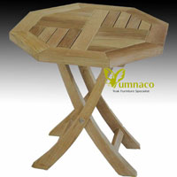 Yumna Octagonal Coctail Table - Indonesian Outdoor Teak Furniture
