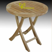 Yumna Coctail Round Table - Indonesian Outdoor Teak Furniture