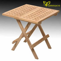 Yumna Folding Side Table Rectangular - Indonesian Outdoor Teak Furniture